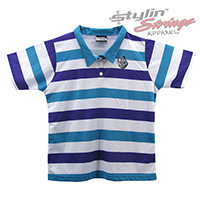 Ballyhoo Women's Sublimated Striped Staff Polos