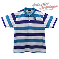 Ballyhoo Men's Sublimated Striped Staff Polos