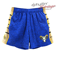 Rams Sublimated Women's Lacrosse Shorts