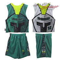 Spartans Sublimated Lacrosse Uniform Sets