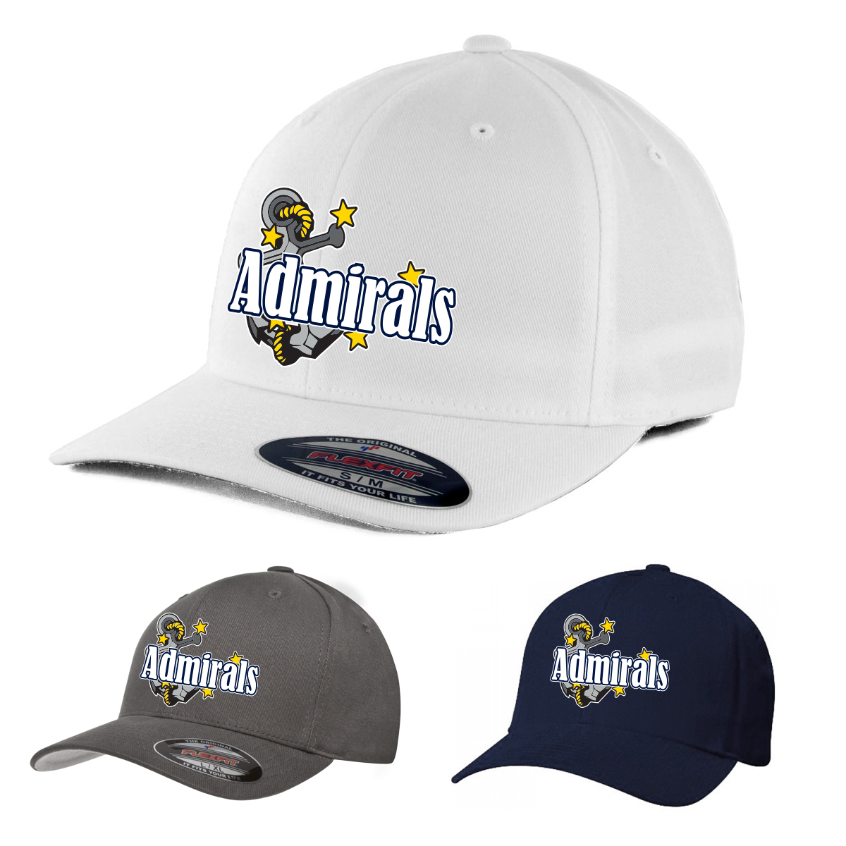 Stylin Strings Admirals Lacrosse Fitted Hat