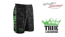 Stylin' Strings True Lacrosse Men's Text Pattern Shorts